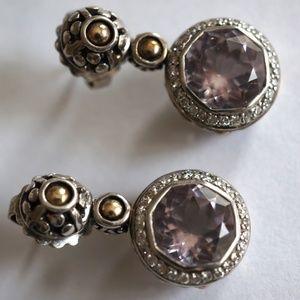 John Hardy White Sapphire  & Diamond Earrings